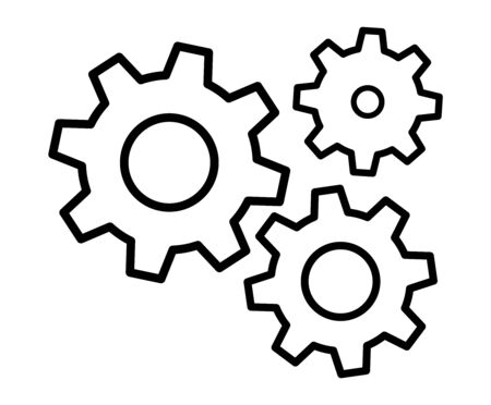 Gears icon settings , for mobile applications web sites etc. Vector illustration . Ilustração