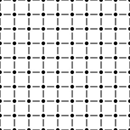 Modern seamless pattern with dot and line isolated on white background  . Ilustração
