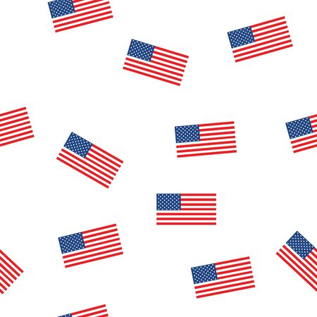 USA flag seamless patern isolated on white background. American sign vector design .