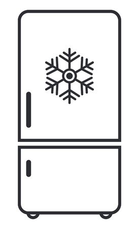 Freezer cold flat icon vector. Modern smart sign, solid pictogram isolated on white background .