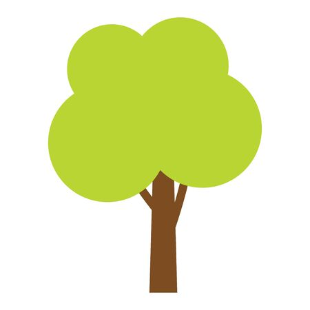 Tree icon. Forest vector symbol. Flat web sign on white background
