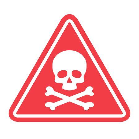 Hazard warning symbol vector icon flat sign symbol with exclamation mark isolated on white background . 일러스트