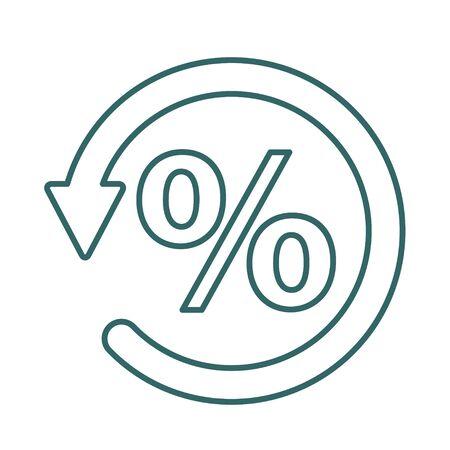 Chargeback icon symbol, return money isolated on white background .