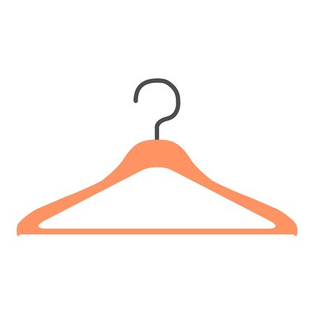 Clothes hanger modern icon vector isolated on white background. Shop symbol .
