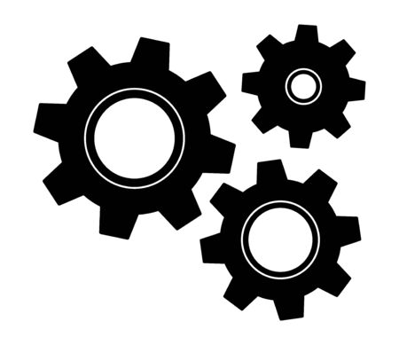 Gears icon settings , for mobile applications web sites etc. Vector illustration . Reklamní fotografie - 132118331