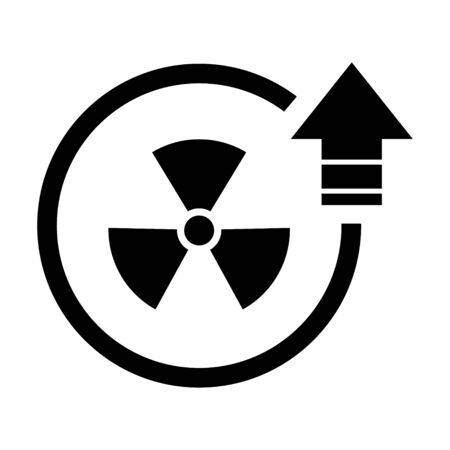 Radiation toxic symbol isolated on white background. Flat warning sign . Illustration