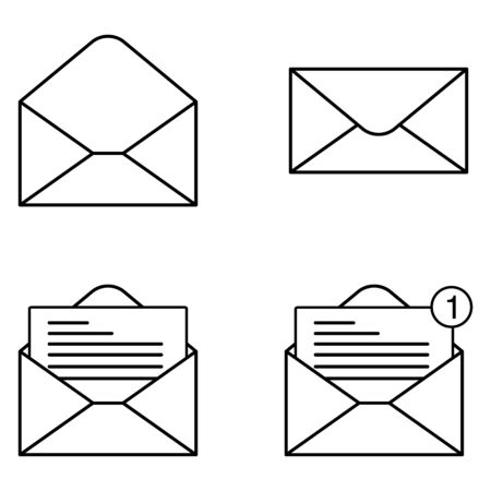 Mail icon for design and websites. Message vector illustration trendy symbol . Stok Fotoğraf - 132118563