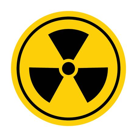 Radiation toxic symbol isolated on white background. Flat warning sign .  イラスト・ベクター素材