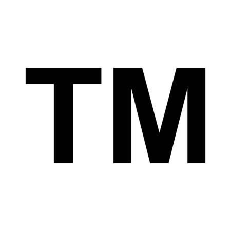Trade mark icon symbol. TM sign trademark vector black law . Ilustrace