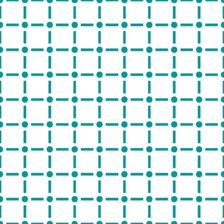 Modern seamless pattern with dot and line isolated on white background  . Ilustracja