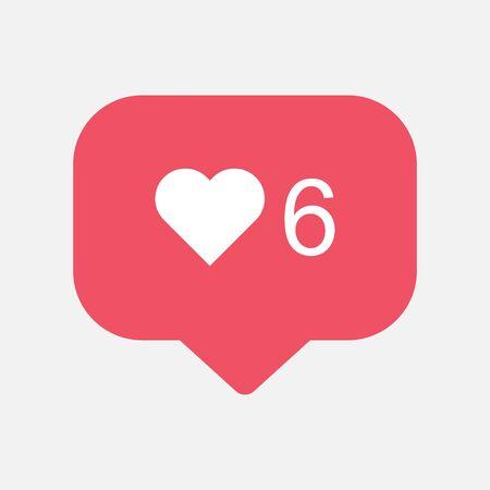 Counter, follower notification symbol. Buton for social media .