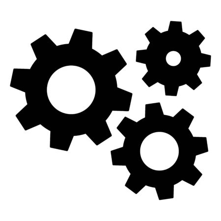 Gears icon settings , for mobile applications web sites etc. Vector illustration . Ilustracja