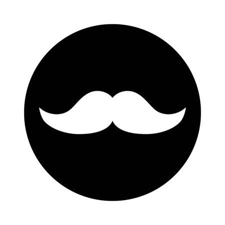 Moustache flat icon symbol. Vector illustration isolated on white background . Ilustracja