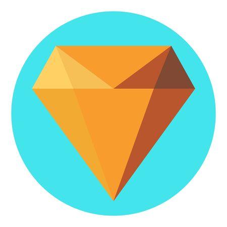 Diamond flat icon  vector. Web symbol. Perfect Black pictogram illustration on white background . Standard-Bild - 133480174