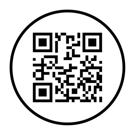 QR code icon vector isolated on white background. Digital information sign . Ilustracja