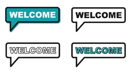 Welcome icon chat, messenger vector for your website. Modern symbol for web, app etc .