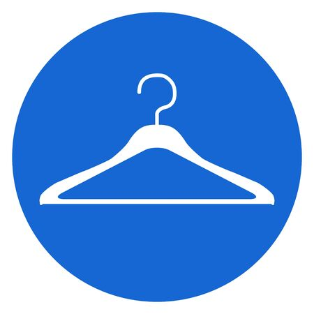 Clothes hanger modern icon vector isolated on white background. Shop symbol . Reklamní fotografie - 133480255
