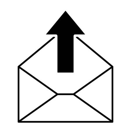 Mail icon for design and websites. Message vector illustration trendy symbol .