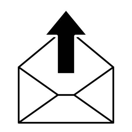 Mail icon for design and websites. Message vector illustration trendy symbol . Reklamní fotografie - 133480261