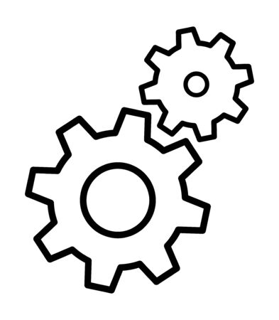 Gears icon settings , for mobile applications web sites etc. Vector illustration . Ilustrace