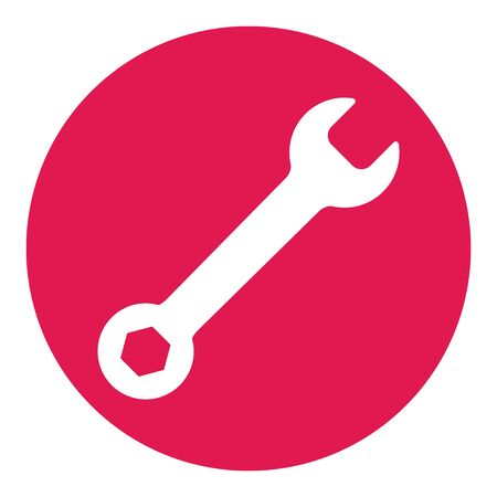 Wrench icon in flat style isolated on white background. Spanner symbol for your web site design, logo, app, UI etc . Reklamní fotografie - 133480263