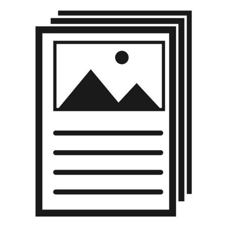 Flyer, brochure modern symbol. Vector icon isolated on white background for website, app, mobil etc .