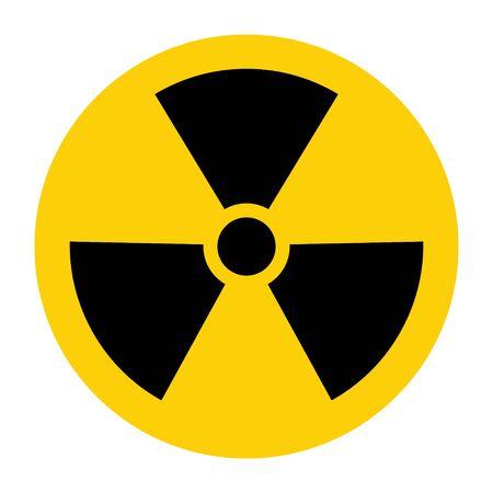 Radiation toxic symbol isolated on white background. Flat warning sign . Ilustrace