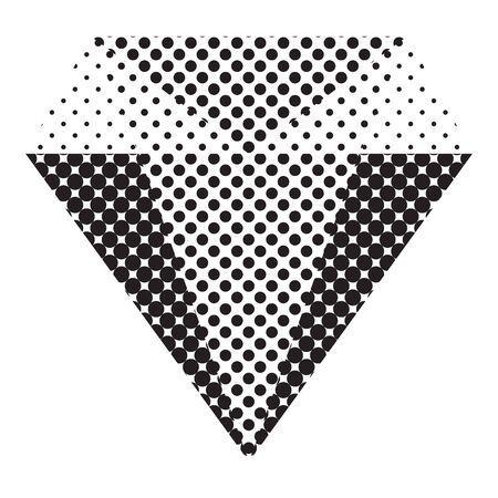 Diamond flat icon  vector. Web symbol. Perfect Black pictogram illustration on white background .