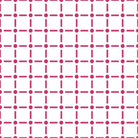 Modern seamless pattern with dot and line isolated on white background  . Çizim