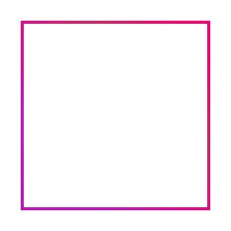 Thin color empty vector frame isolated on white background. Modern design for banner or headline . Reklamní fotografie - 133772748