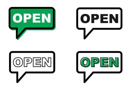 Open icon chat, messenger vector for your website. Modern symbol for web, app etc . Reklamní fotografie - 133772750