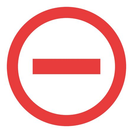 Stop sign, icon blank vector. Red color singe symbol illustration .