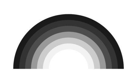 Rainbow decorative icon vector, isolated on background. black color graphic design illustration .