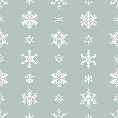 Snowflake holiday decoration, seamless pattern. Snow flat sign isloated on grey background . Reklamní fotografie - 133772758