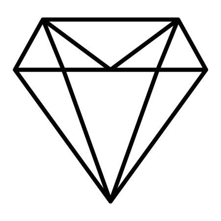 Diamond flat icon  vector. Web symbol. Perfect Black pictogram illustration on white background . Reklamní fotografie - 135426351