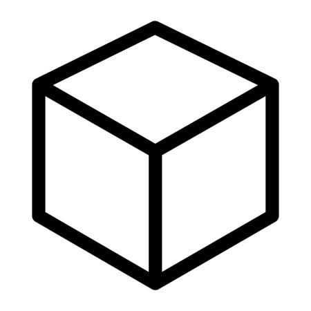 Cube icon graphic design vector, symbol modern isolated illustration . Reklamní fotografie - 135426353