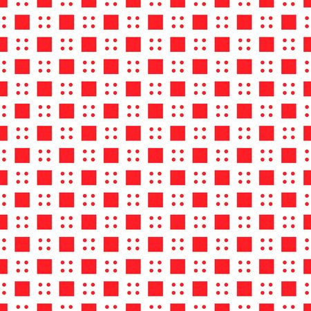 Modern four dot and cube seamless pattern isolated on white background .