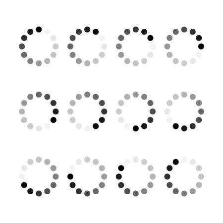 Loading bar progress icon step by step. Webside set symbol round loader .