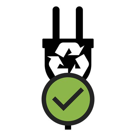 Electric plug vector icon isolated on white background. Energy adapter, web symbol . Reklamní fotografie - 135426369
