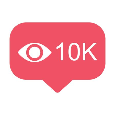View popular icon notification symbol. Button for social media . Çizim