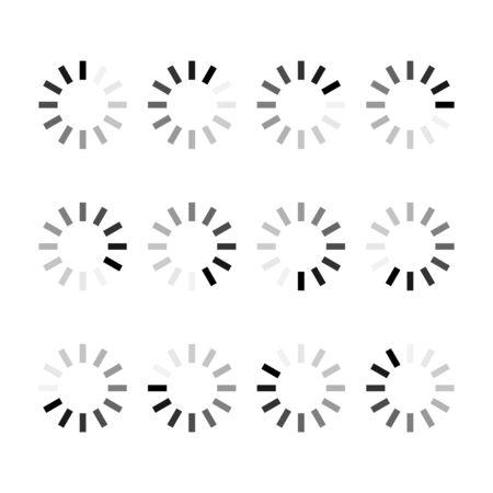 Loading bar progress icon step by step. Webside set symbol round loader . Reklamní fotografie - 137486156