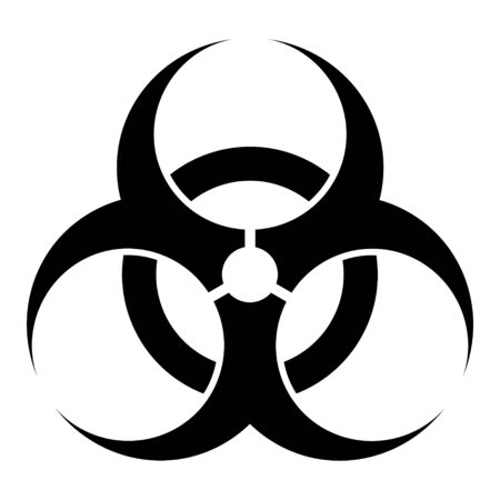 Biohazard modern website icon isolated on white background. Design for mobile app and ui . Çizim