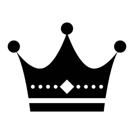 Crown flat vector icon isolated on white background. King sign illustration object . Ilustrace