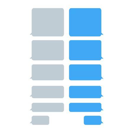 Set message bubbles icons for communication, chat etc . Speech vector bubbles design template for messenger .