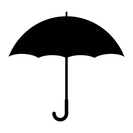 Umbrella flat icon vector design isolated on white background. Rain drop protection .
