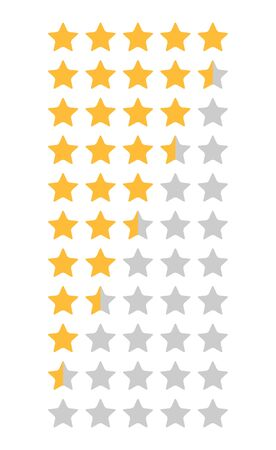 Set stars, customer quality symbol, vector product rating review flat icon for hotel, restaurant etc .