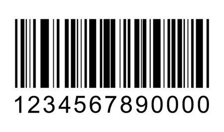 Icona di vettore del codice a barre. Codice a barre per il web, progettazione dell'interfaccia utente dell'app. Illustrazione isolata.