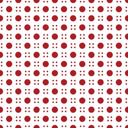 Modern four dot and big dot seamless pattern isolated on white background  . Çizim