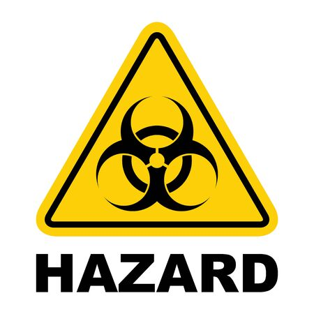 Biohazard modern website icon isolated on white background. Design for mobile app and ui . Ilustrace