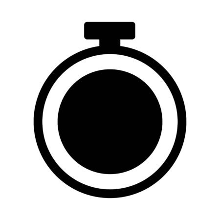 Time flat icon vector,  classic watch design isolated on white background. Vector illustration .